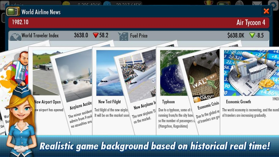 Download AirTycoon 4 (MOD free shopping) 1.4.7 APK for android
